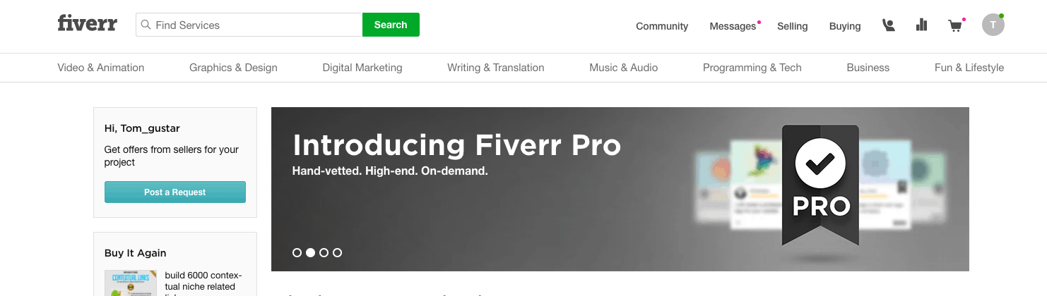 Fiverr website screenshot