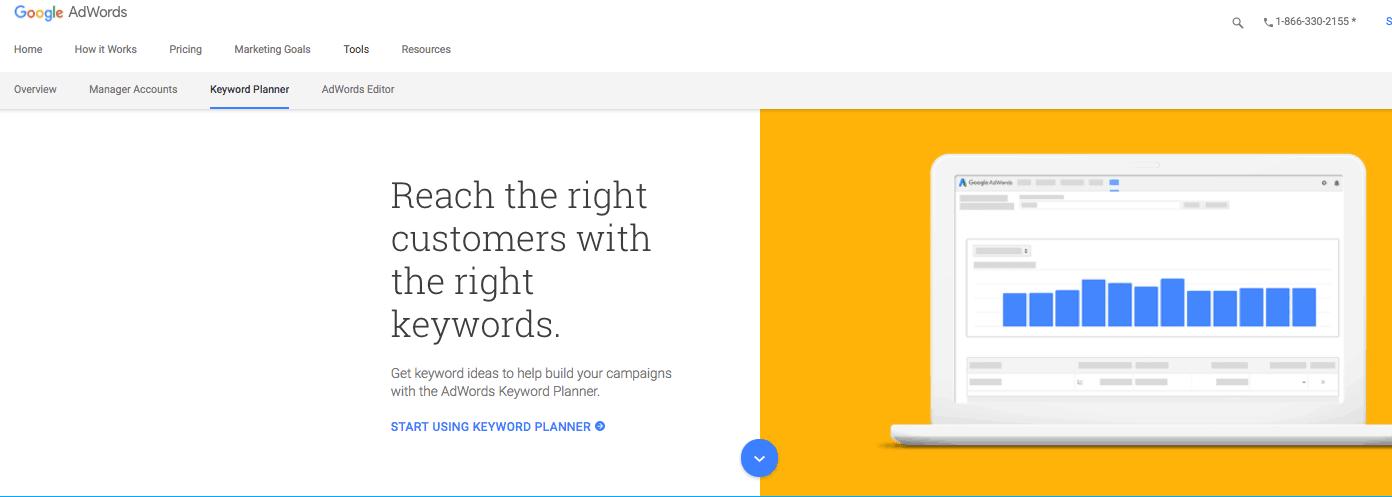 Pic of Google Keyword Page